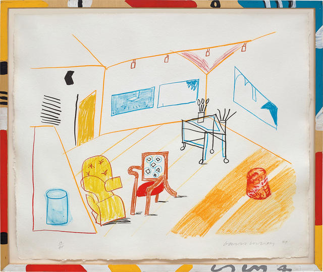 David Hockney, 'Conversation in the Studio, from Moving Focus Series', 1984, Phillips
