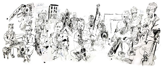 , 'Alan Ferber Big Band at Jazz Gallery,' 2013, Fountain House Gallery