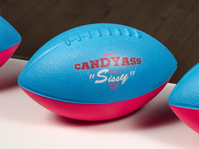 , 'Official Candyass Class Sissy Football,' 1991, Fleisher/Ollman