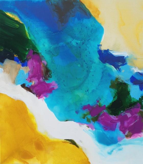 , 'Golden Ochre, Magenta, Blue,' 2018, Trish Clark Gallery