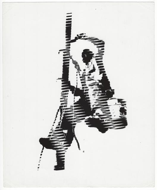 Weegee, 'Flag pole painter, New York, distortion', ca. 1950, Elizabeth Houston Gallery