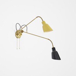 Angelo Lelii, 'Rare articulated wall lamp,' c. 1951, Wright: Design Masterworks