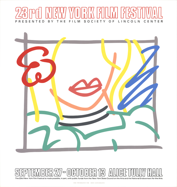 Tom Wesselmann, 'Monica, 23rd New York Film Festival', 1985, Ephemera or Merchandise, Silkscreen, ArtWise