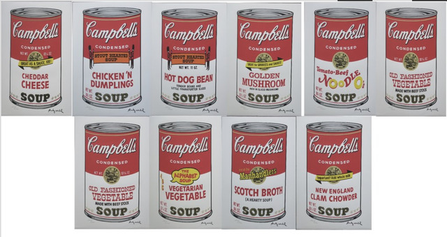 """Andy Warhol, 'Set of 10 lithographs """"Campbell's Soup"""" II', 1986, Print, Lithograph, Lyons Gallery"""