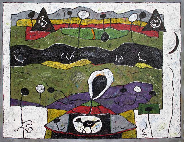 Alden Mason, 'Spirit Bird Landscape', 1996, Foster/White Gallery