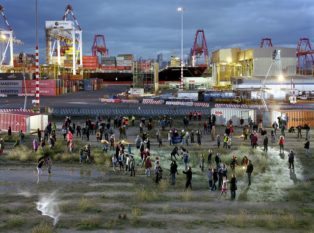 , 'Crowd Theory: Port of Melbourne,' 2013, The Fine Art Society