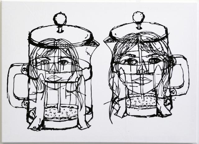 , '2 Figures,' 2015, Johannes Vogt Gallery
