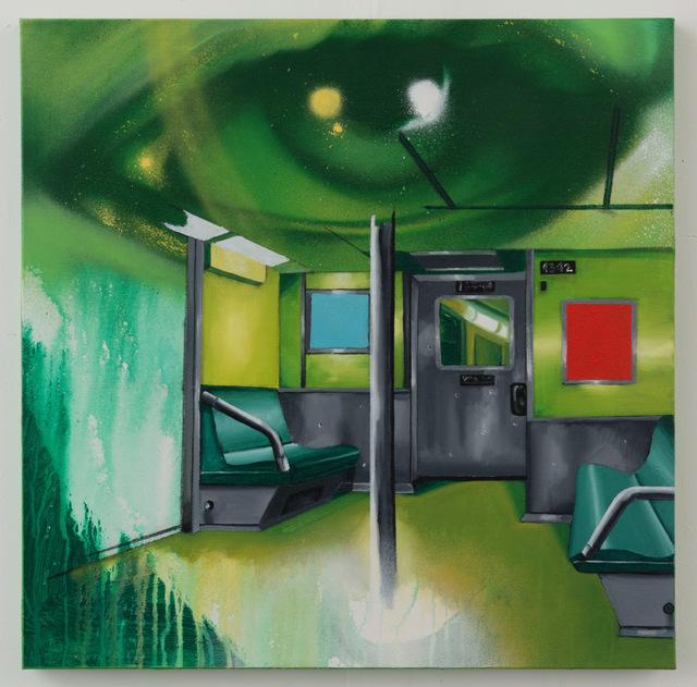 , 'Subway Interior 2,' 2017, P.P.O.W
