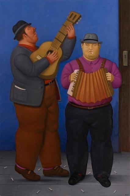 , 'Two Musicians,' 2010, Fernando Pradilla/El Museo