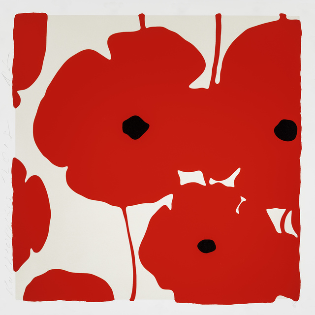 Donald Sultan, 'Red Poppies', 2018, Maune Contemporary