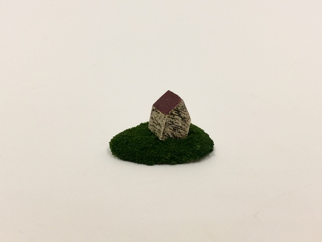 """, 'Housing Market Series 1 : """"I have a perfect house for you. It's slightly tilted and extremely small but you can't find any other houses with the price tag."""",' 2018, Adah Rose Gallery"""