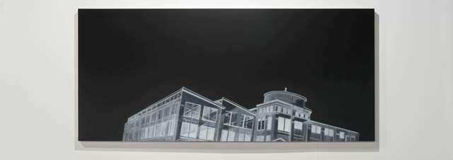 , 'Fábrica desde una inclinación a la derecha,' 2017, Mor Charpentier