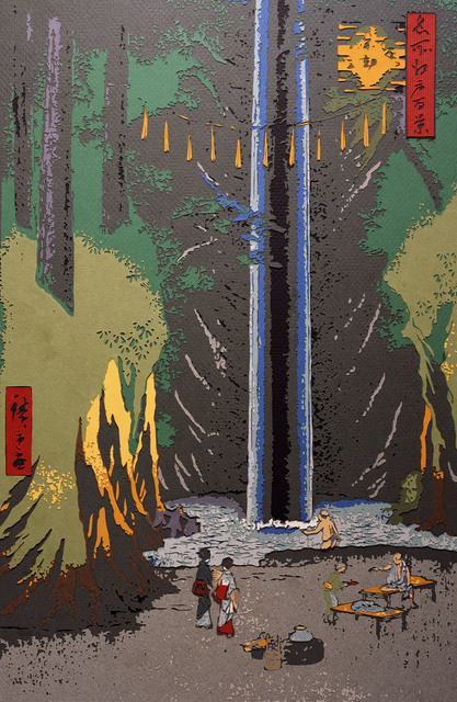 , 'Fudo Falls, Oji, after Hiroshige,' 2009, galerie nichido / nca | nichido contemporary art