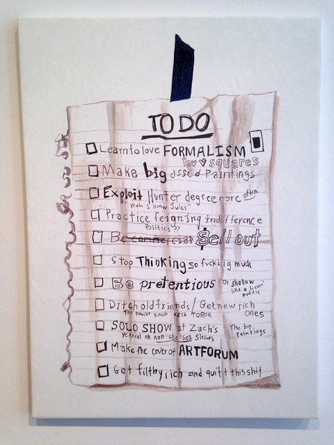 , 'To Do List,' 2014, The Aldrich Contemporary Art Museum