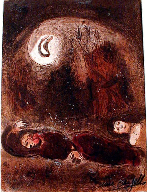 Marc Chagall, 'Ruth at the Feet of Boaz', 1960, Print, Lithograph, Galerie d'Orsay