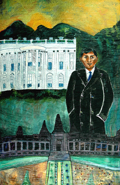 , 'Sichan between two worlds: From Angkor Wat to the White House,' 1994, Pacita Abad Art Estate