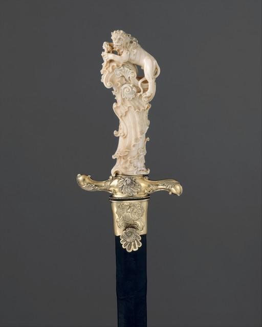 Attributed to Joseph Deutschmann, 'Hunting Sword with Scabbard', ca. 1740, The Metropolitan Museum of Art