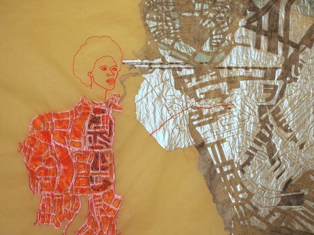 Wura-Natasha Ogunji, 'Oyibo vs Herself [That's not the Atlantic; there's a disco ball between us.] ', 2013, 50 Golborne