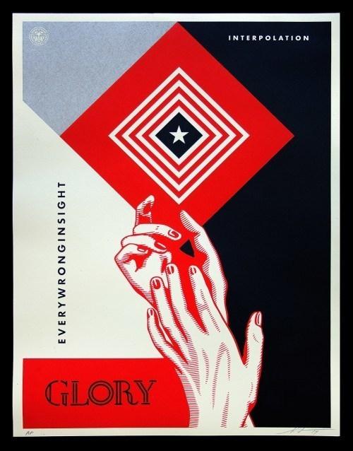 Shepard Fairey (OBEY), 'Interpolation White Black', 2014, AYNAC Gallery