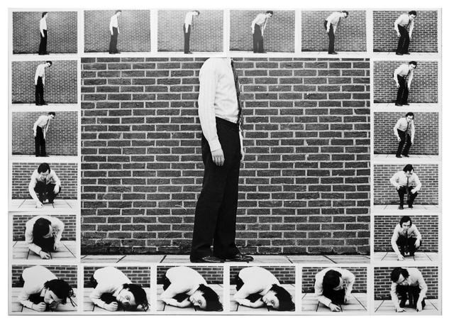 , 'Contraindre le corps à s'inscrire dans le cadre de la photo, 1971 encadre de cadres 1970 et circuit fermé, 1970 ,' 1971, Johannes Vogt Gallery