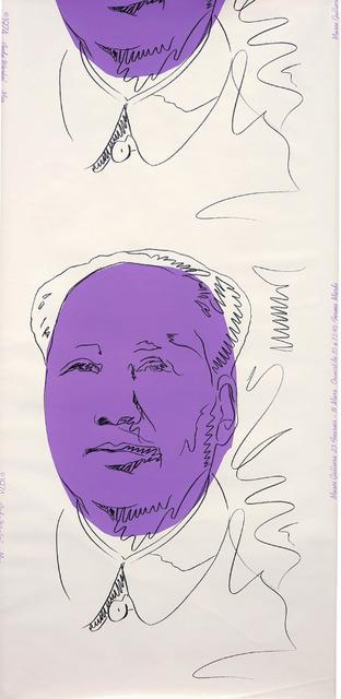 Andy Warhol, 'Mao (wallpaper)', 1974, Print, Screenprint on wallpaper, JF Fine Arts & Verosa