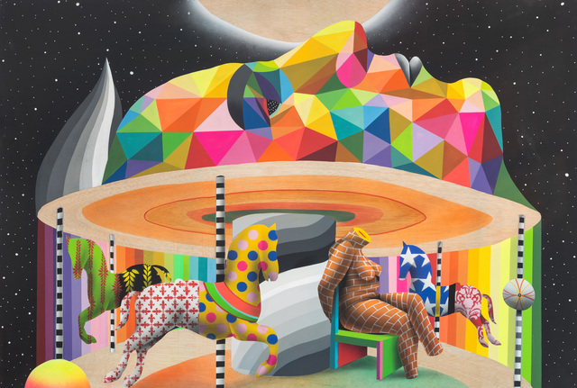 Okuda San Miguel, 'My Brain's Carousel', 2016, Underdogs Gallery