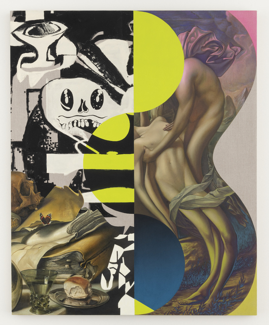 Matthew Hansel, 'The Descending Day Becomes Our Folly', 2018, Painting, Oil and flashe on linen, Joshua Liner Gallery