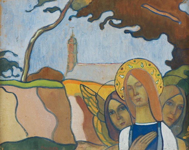 , 'Madonna and Two Angels or Madonna of the Fireflies (Madone aux vers luisants),' 1892, Guggenheim Museum