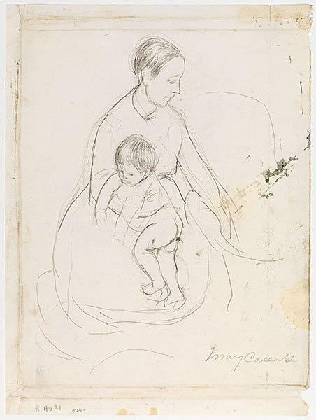 """Mary Cassatt, 'Drawing for """"The Bath""""', 1890, Adelson Galleries"""