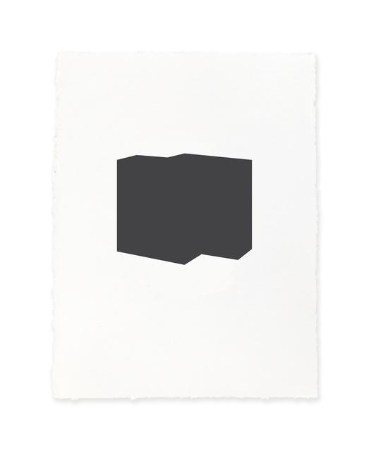 Jeff Kellar, 'white w/black 3', 2019, Richard Levy Gallery