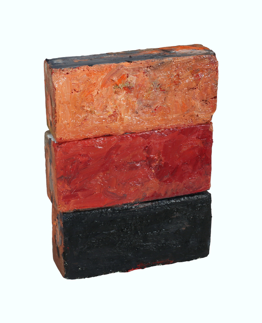 "Vilaykorn Sayaphet, 'Historical Bricks II ""from Hudson River in Poughkeepsie"" (front)', 218, John Davis Gallery"