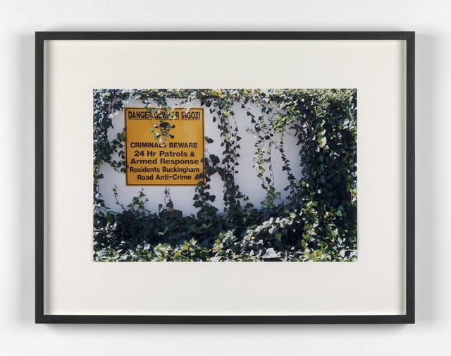 Kendell Geers, 'Suburbia 12', 1999, Stephen Friedman Gallery
