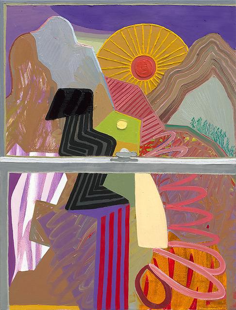 , 'Closed Window 10 (Sun Wheel),' 2018, Gregory Lind Gallery