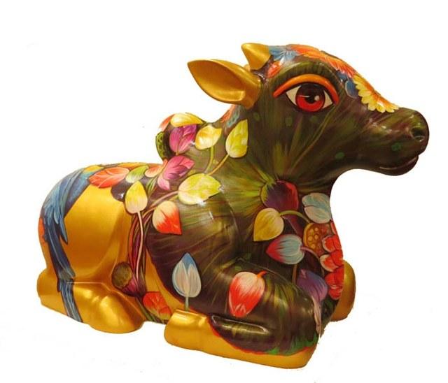 Sachindra Nath Jha, 'Nandi (Kamallata)', 2015, Arushi Arts