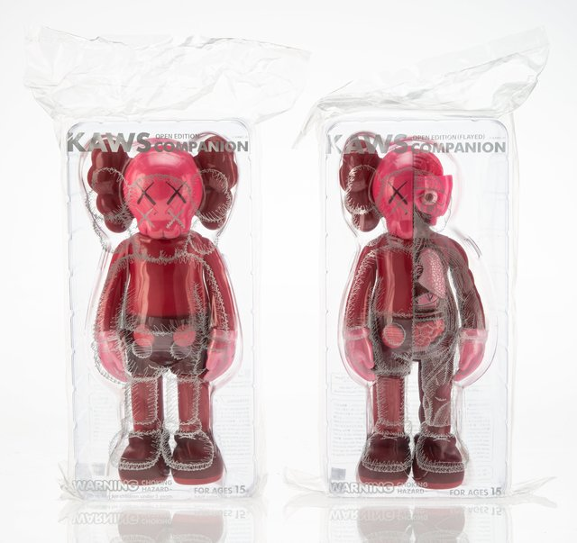 KAWS, 'Companion (Blush), set of two', 2016, Other, Painted cast vinyl, Heritage Auctions
