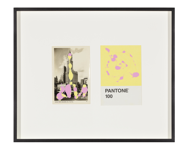 Tacita Dean, 'Pantone Pair (100)', 2020, Painting, Found Pantone card paired with postcard from the artist's collection, monoprinted and framed to the artist's specifications, Gemini G.E.L. at Joni Moisant Weyl