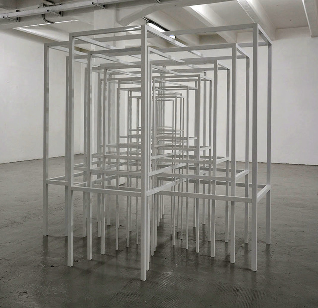 Paolo Cavinato, 'Protection #2 (12 tables)', 2015, Sculpture, Varnished aluminum, The Flat - Massimo Carasi