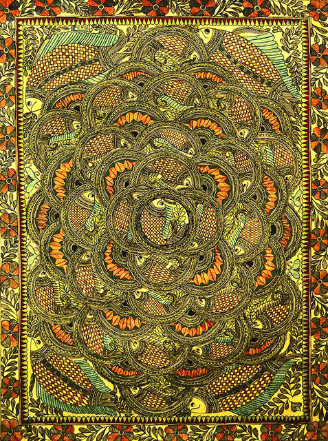 , 'Influence - Madhubani - Indian Tribal & Traditional Art,' 2013, ICAC