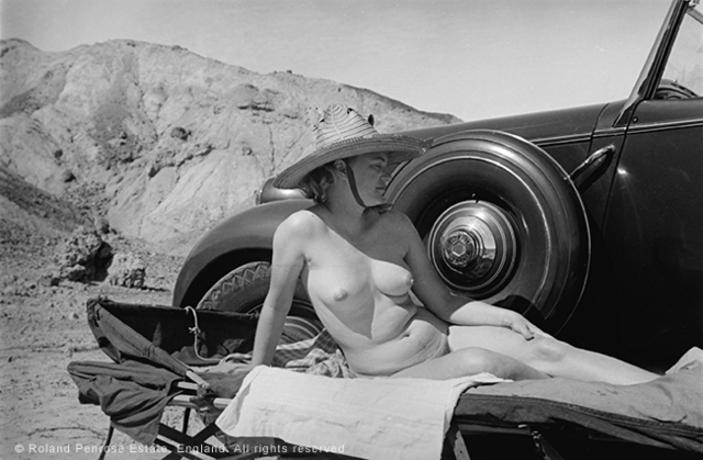 , 'Lee Miller sunbathing nude beside her car, Egypt,' 1939, °CLAIR Galerie