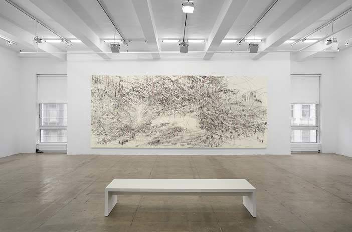 Julie Mehretu, LIMINAL SQUARED, Installation View, Marian Goodman Gallery, New York, May 11 - June 22, 2013