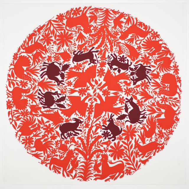 , 'Tenango (Red),' 2013, Erin Cluley Gallery