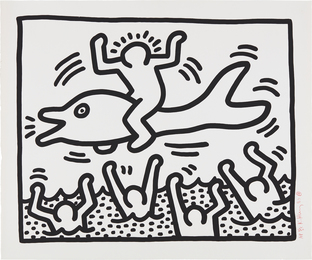 Keith Haring, 'Untitled (Man on Dolphin),' 1987, Phillips: Evening and Day Editions
