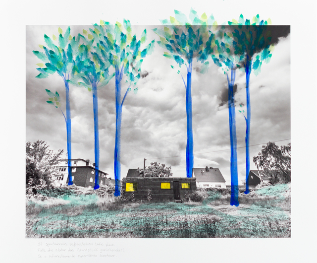 , 'If spontaneous reforestation takes place |Falls die Natur das Grundstuck zuruckerobert |Se o reflorestamento espontâneo acontecer,' 2014, Portas Vilaseca Galeria