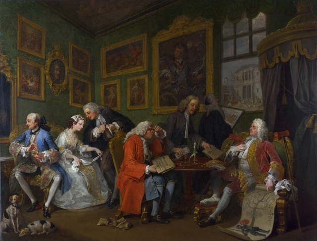 William Hogarth, 'The Settlement,' 1742-1744, The National Gallery, London