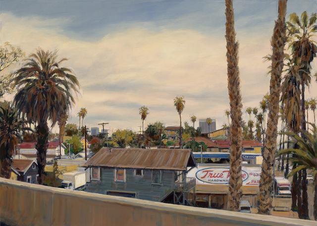, 'East Hollywood Rooftops,' 2015, Paul Thiebaud Gallery