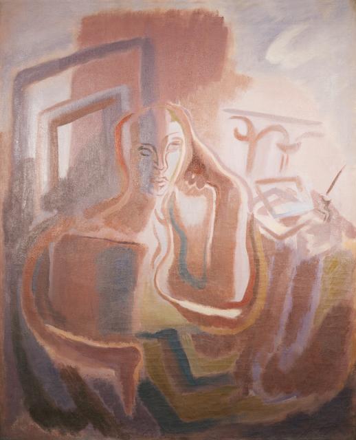 Germaine Derbecq, 'The poet', 1930, Painting, Oil on canvas, Calvaresi