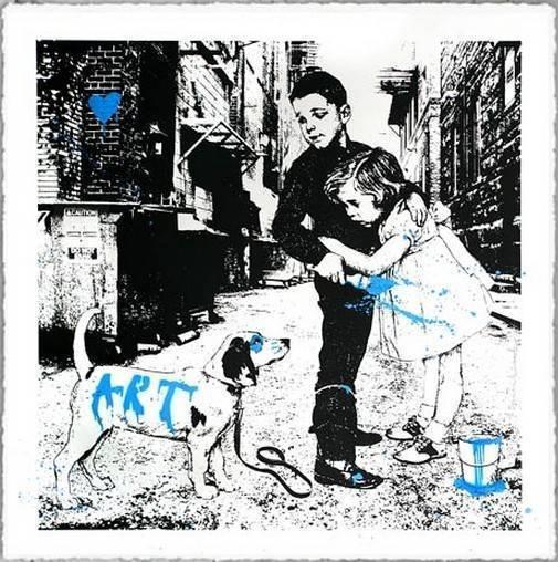 Mr. Brainwash, 'PUP ART (BLUE)', 2012, Marcel Katz Art