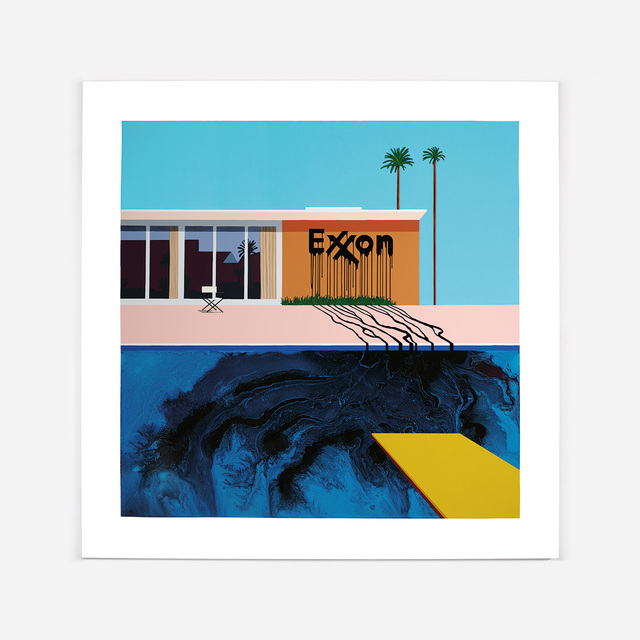 , 'Oil Painting, Exxon Blue/Blue,' 2016, Lazinc