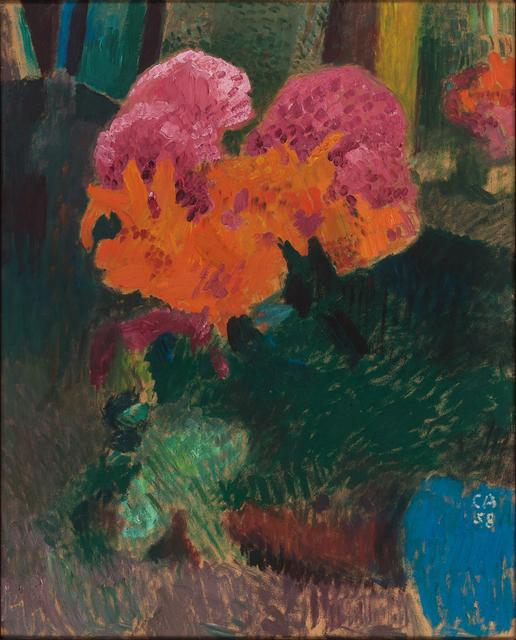 , 'Feuerlilien und Hortensien,' 1958, Simon Studer Art