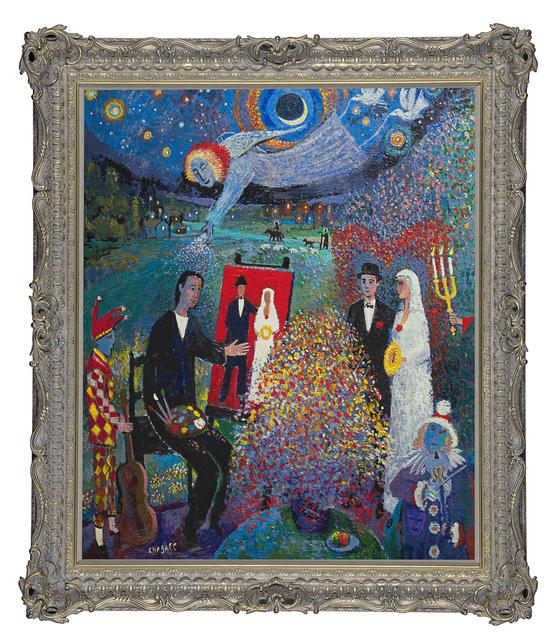 John Myatt, ' The Mystical Wedding', 2021, Print, A signed hand-embellished stretched canvas, Castle Fine Art